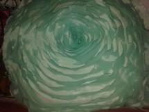 Almofada verde em crochê