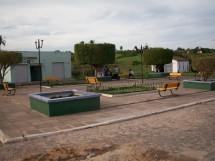 Praça ao lado do Salão Paroquial
