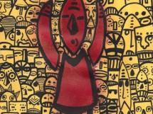 Rei africano vermelho - João