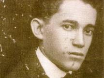 Zé da Luz, poeta, aos 20 anos