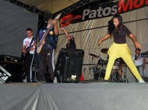 Show de Rock realizado durante Patos Moto Fest