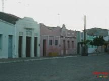 Coxixola-PB. Casario na Avenida Principal