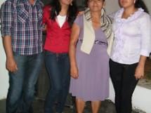 Rejane Ribeiro com seus familiares