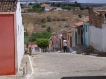 Arara - PB Rua da Palma - Ao fundo o Santuario da Santa Fé