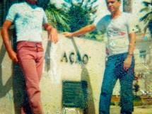 Gilmar Leite com o Irmão Betinho
