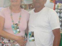 Dalva Batista e Marido em Exposição