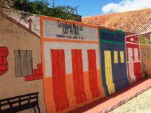 Nova faixada para recepcionar os turistas da festa do barra bode Barra de São Miguel
