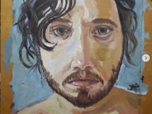 autorretrato, óleo sobre papel