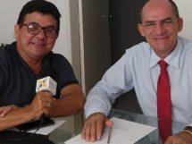 Radialista Eraldo Luis e o advogado Antônio Teotônio